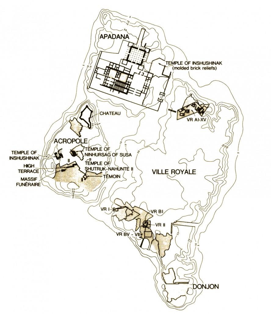 نقشه محوطه باستانی شوش