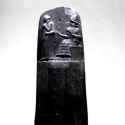 Le code de Hammurabi, Suse, vers 1750 av. J.-C. (Louvre)