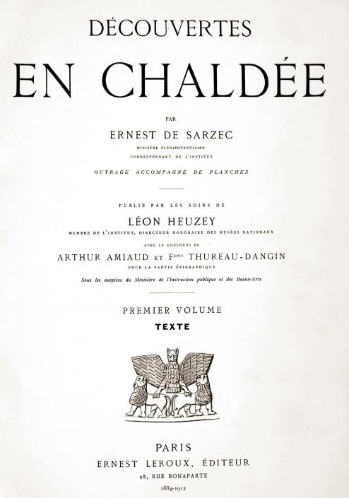 Fouilles de Tello / Girsu par E. de Sarzec