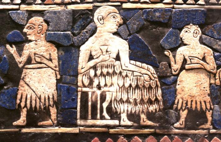 لوح صلح (پرچم( اور (2600 پیش از میلاد، موزه بریتانیا)