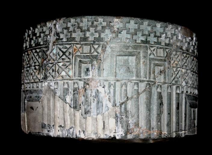 Vase cylindrique de la civilisation de Jiroft