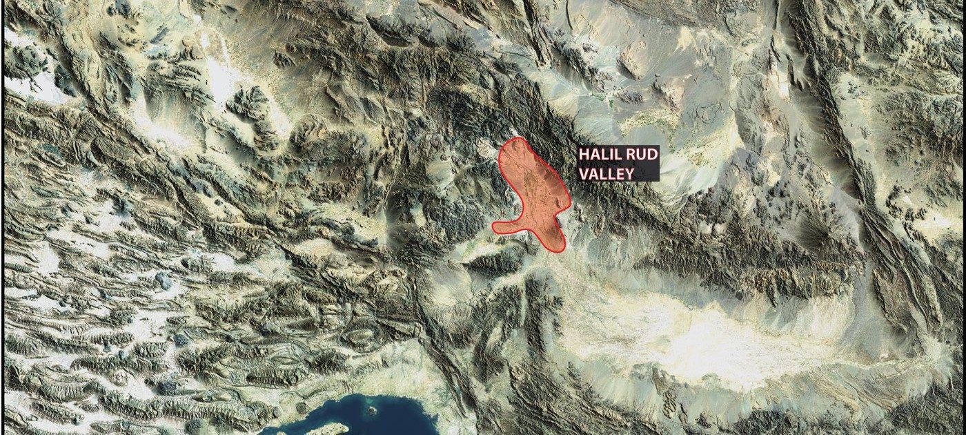 Carte de la vallée du Halil